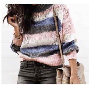 Tularosa Stripped Peace Sweater